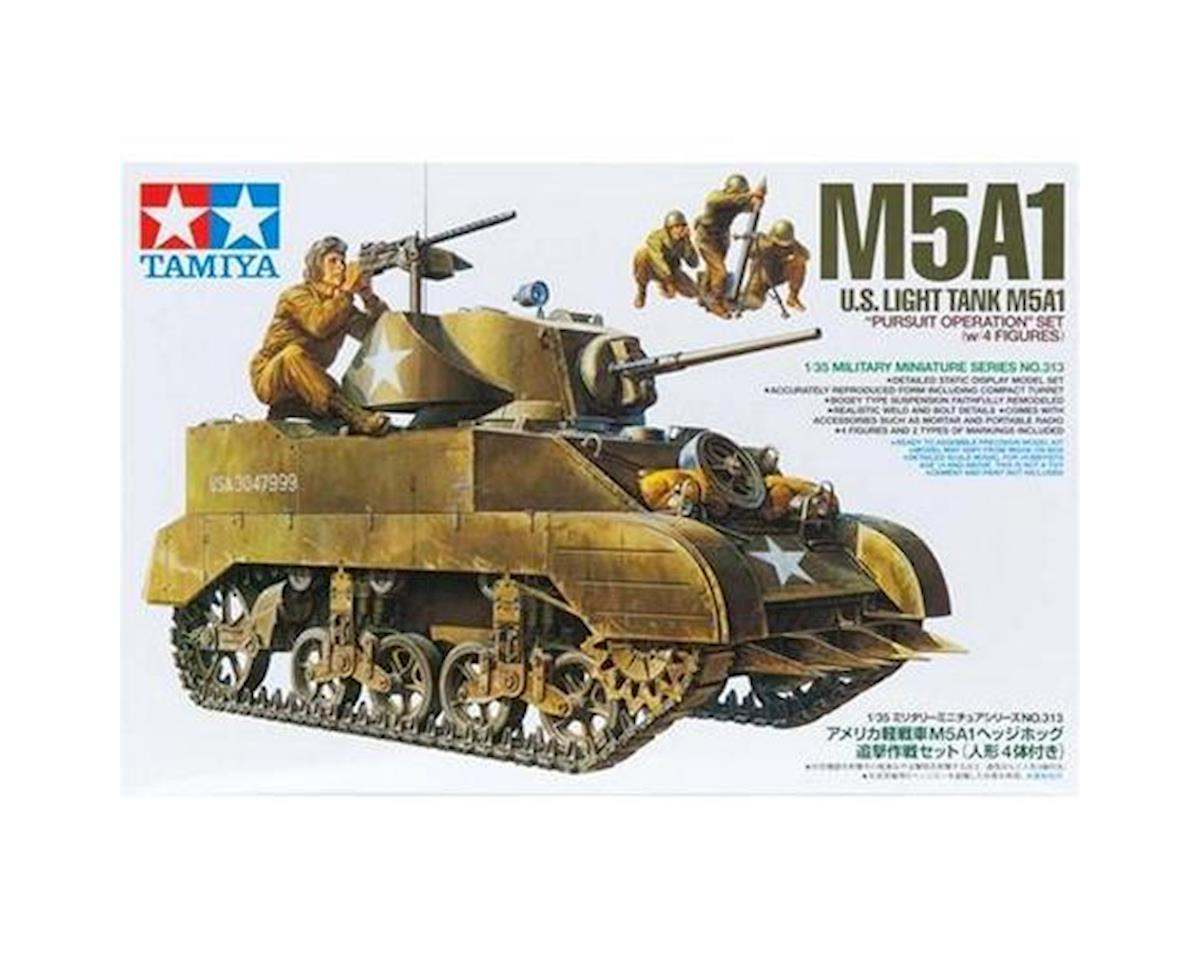 "1/35 US Light Tank M5A1 ""Pursuit Ops"" w/4 Figures by Tamiya"