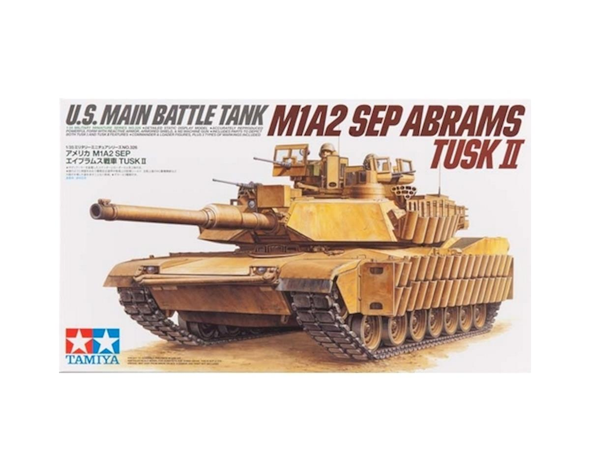 Tamiya 1/35 US Main BattleTank M1A2 SEP Abrams TUSK II [TAM35326] | Toys &  Hobbies