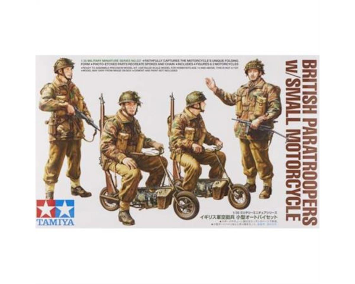 35337, 1/35 British Paratroopers w/Sm Motorcycle by Tamiya