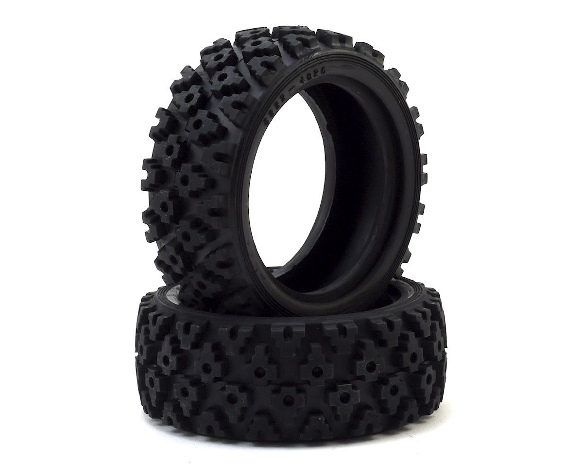Rally Block Tire Set (2) special order chelsey tallant by Tamiya