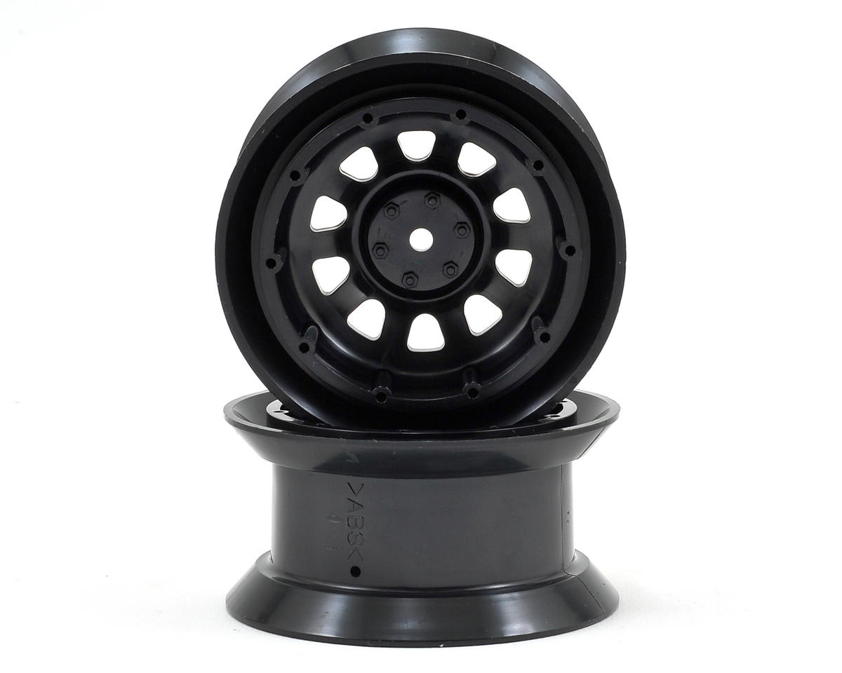 Tamiya Toyota Land Cruiser 40 Wheels (Black) (2) (CR01)