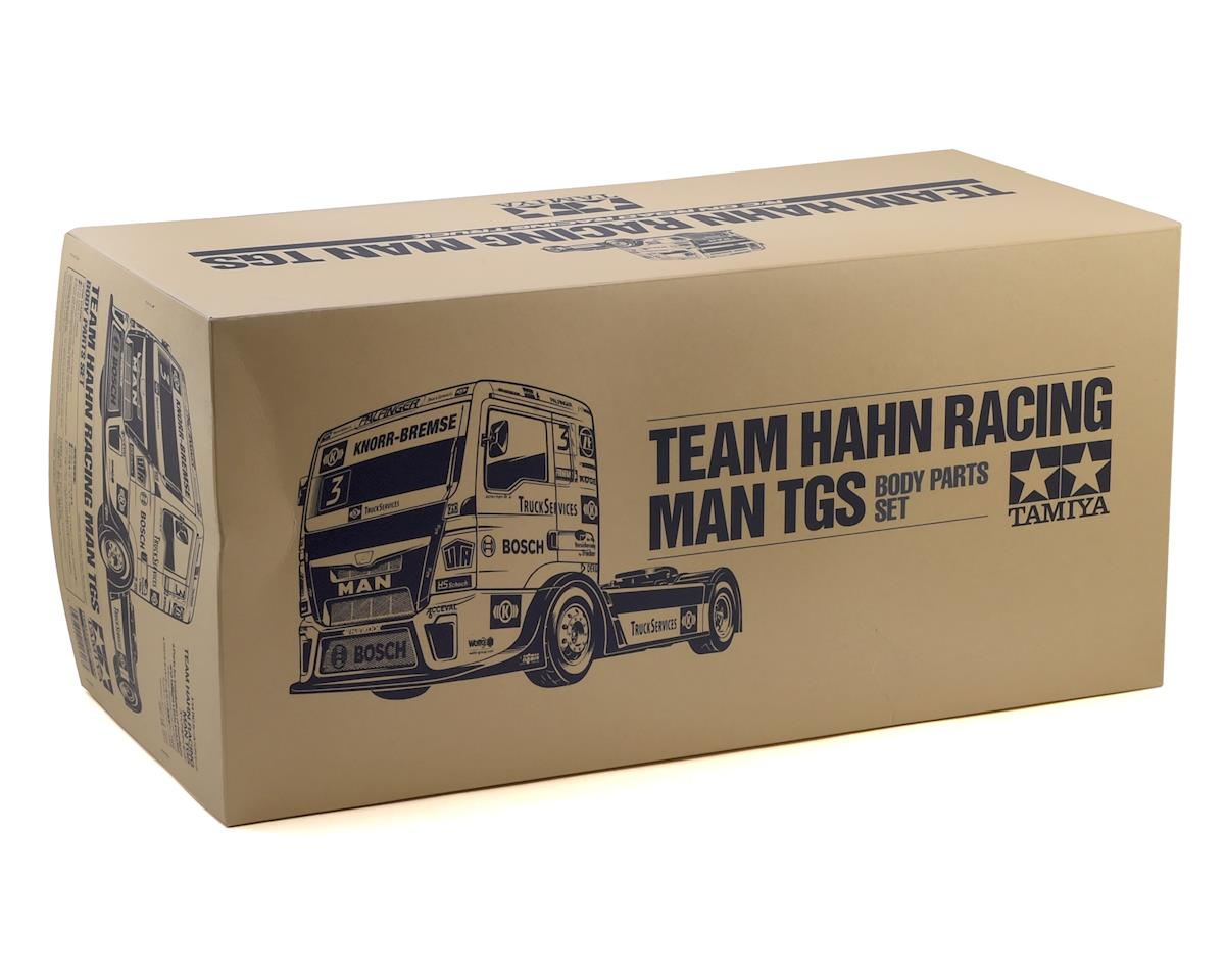 Tamiya Team Hahn Racing MAN TGS Semi Truck Body Set (Clear)