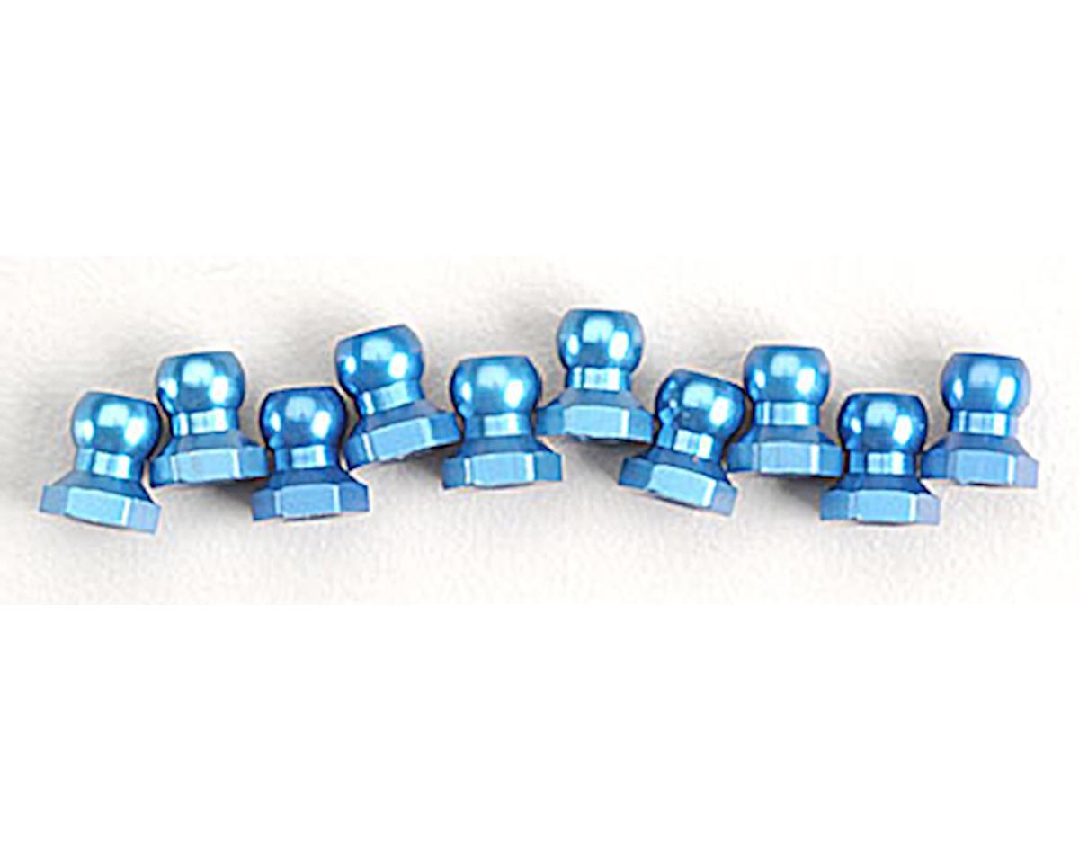 Tamiya Aluminum Ball Nut 5mm Blue (10)