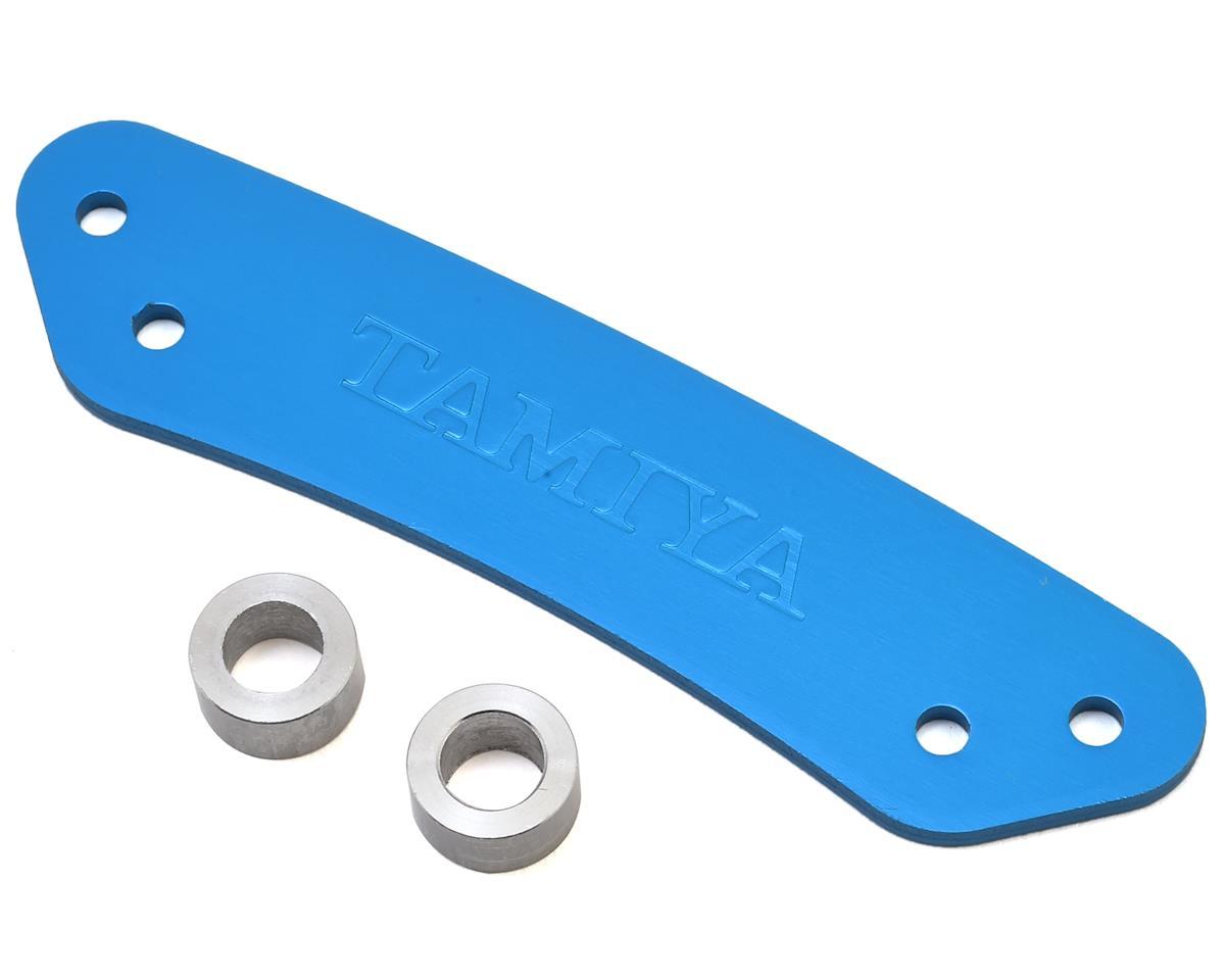 TT-01 Aluminum Bumper Stopper (Blue) by Tamiya