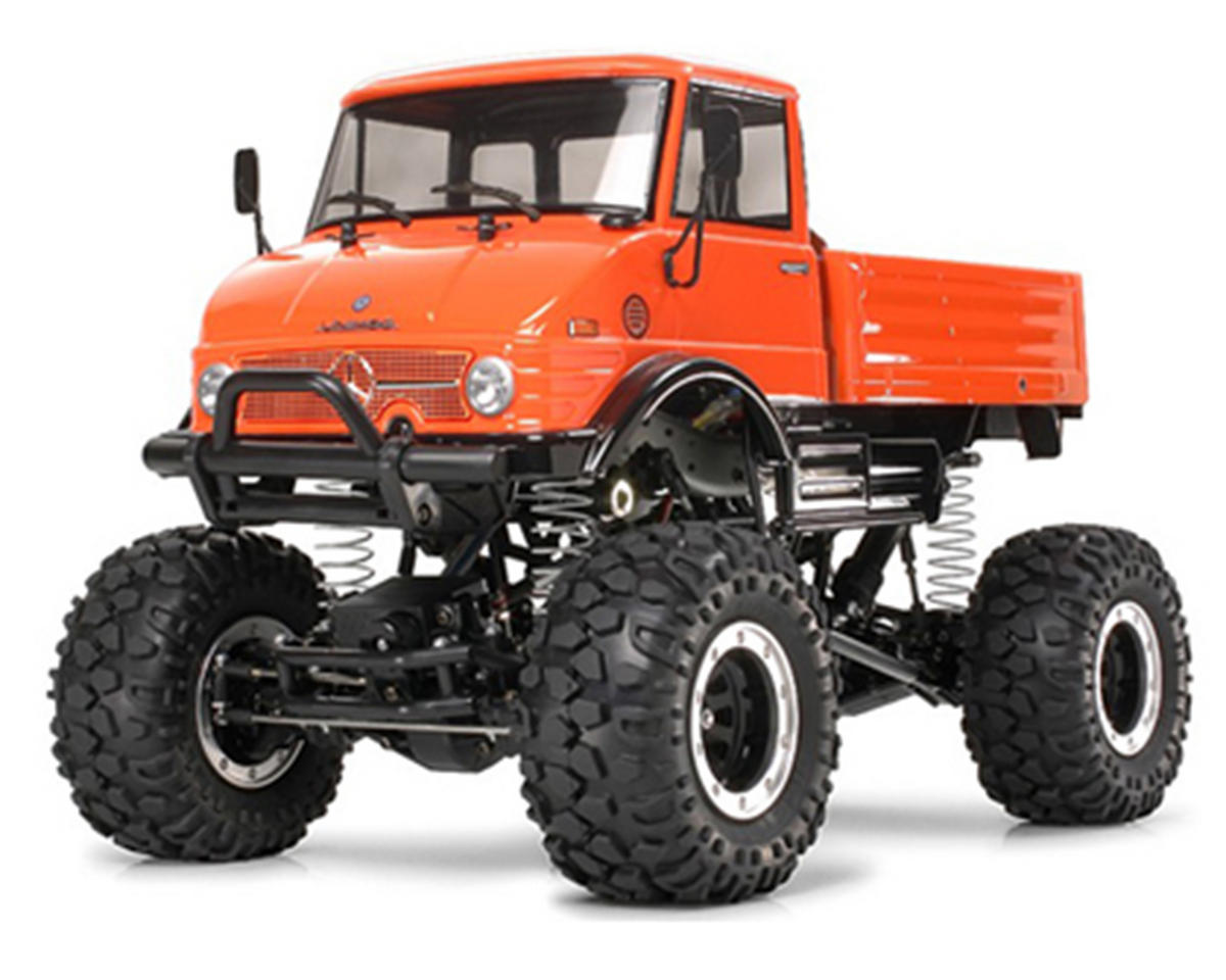 Tamiya mercedes benz unimog 406 1 10 4x4 crawler truck for Mercedes benz unimog