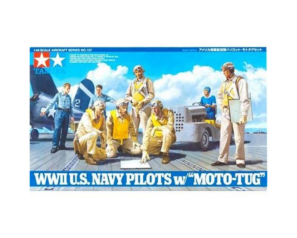 1/48 WWII USN Pilots with Moto by Tamiya