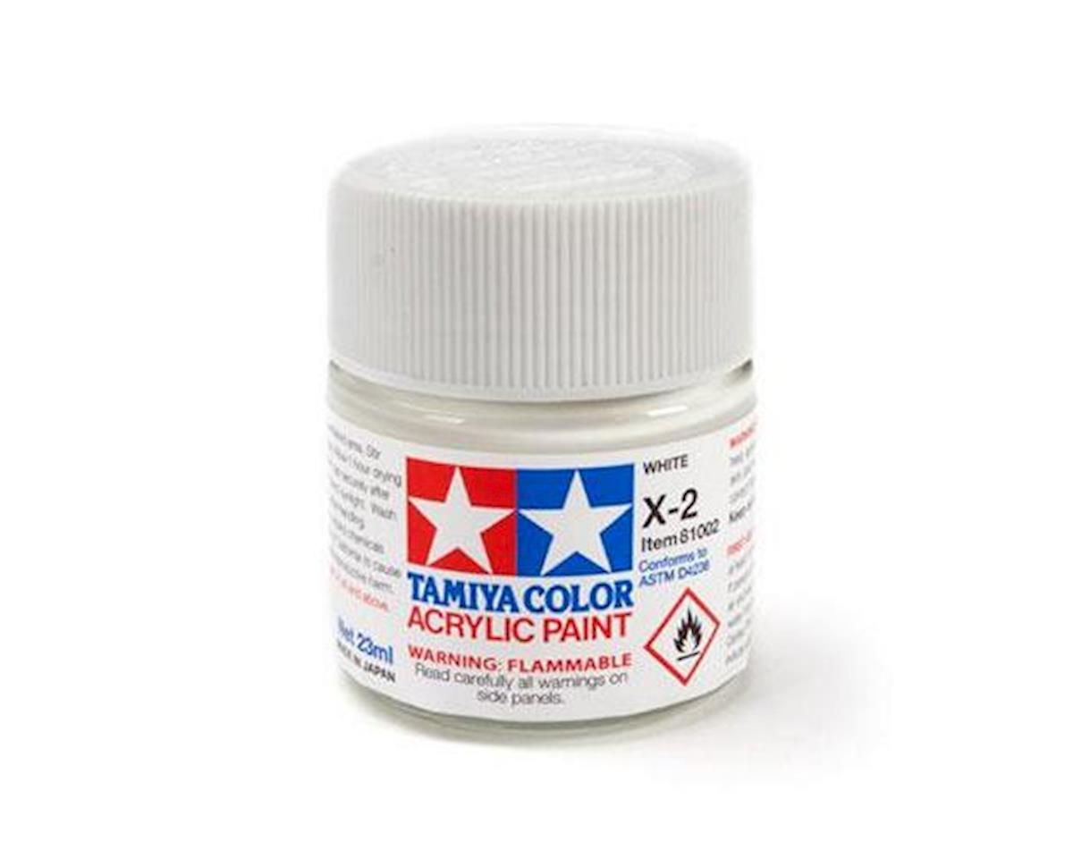 Acrylic X2 Gloss White Paint (23ml) by Tamiya
