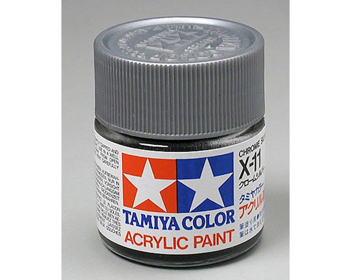 Acrylic X11 Gloss Chrome Silver Paint (23ml) by Tamiya