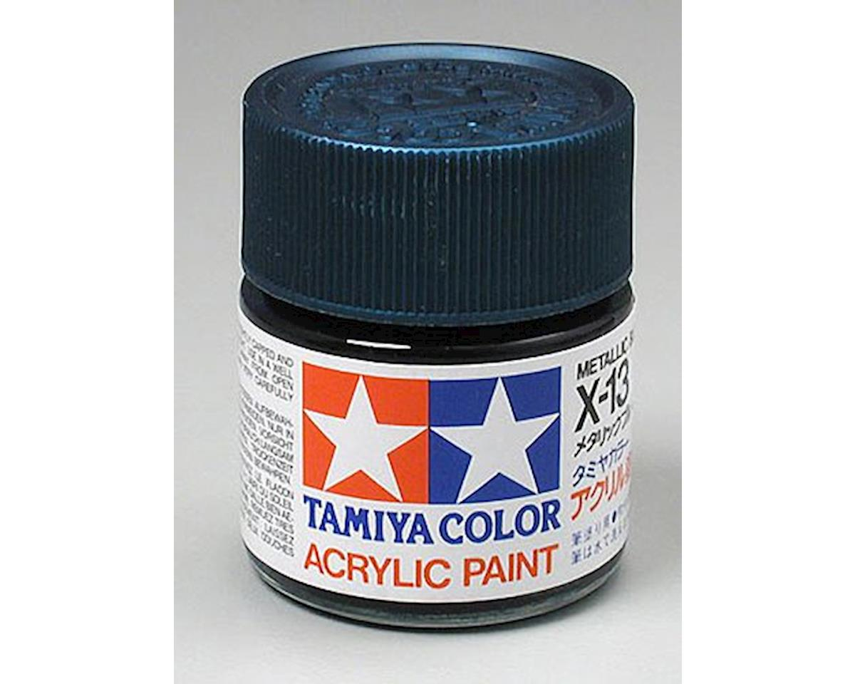 Metallic Blue Mini Acrylic Gloss Finish (6/Bx) by Tamiya