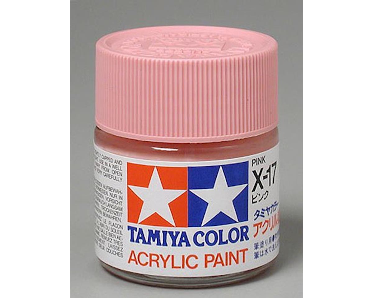 Acrylic X17 Gloss Pink Paint (23ml) by Tamiya