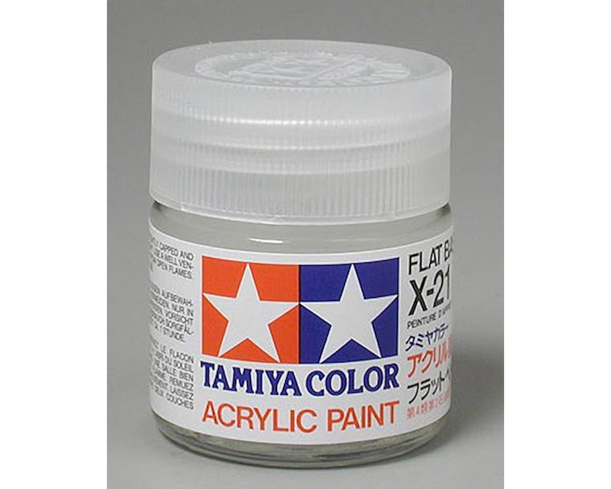Acrylic X21 Flat Base Paint (23ml) by Tamiya