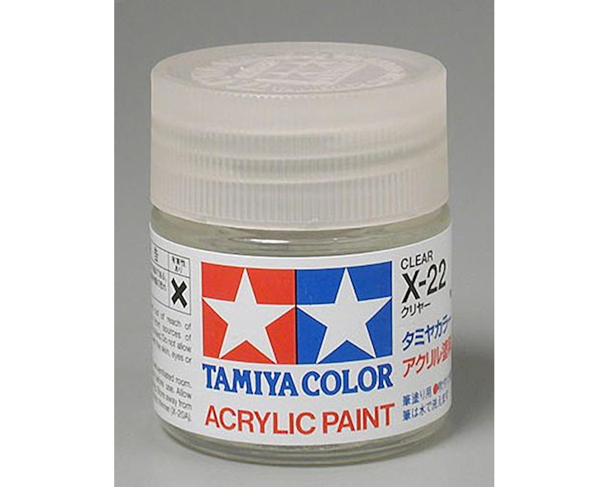 Acrylic X22 Gloss Clear Paint (23ml) by Tamiya
