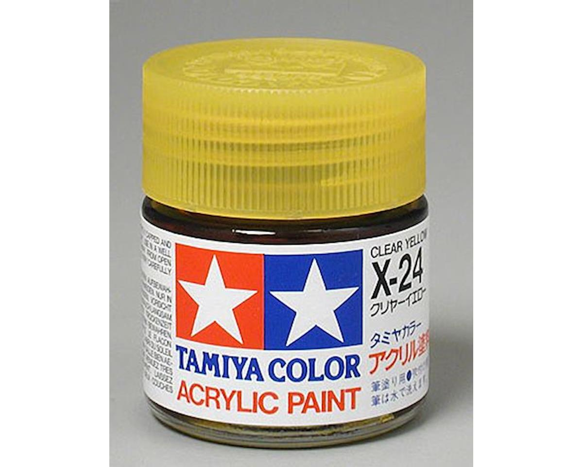 Acrylic X24 Gloss Clear Yellow Paint (23ml) by Tamiya