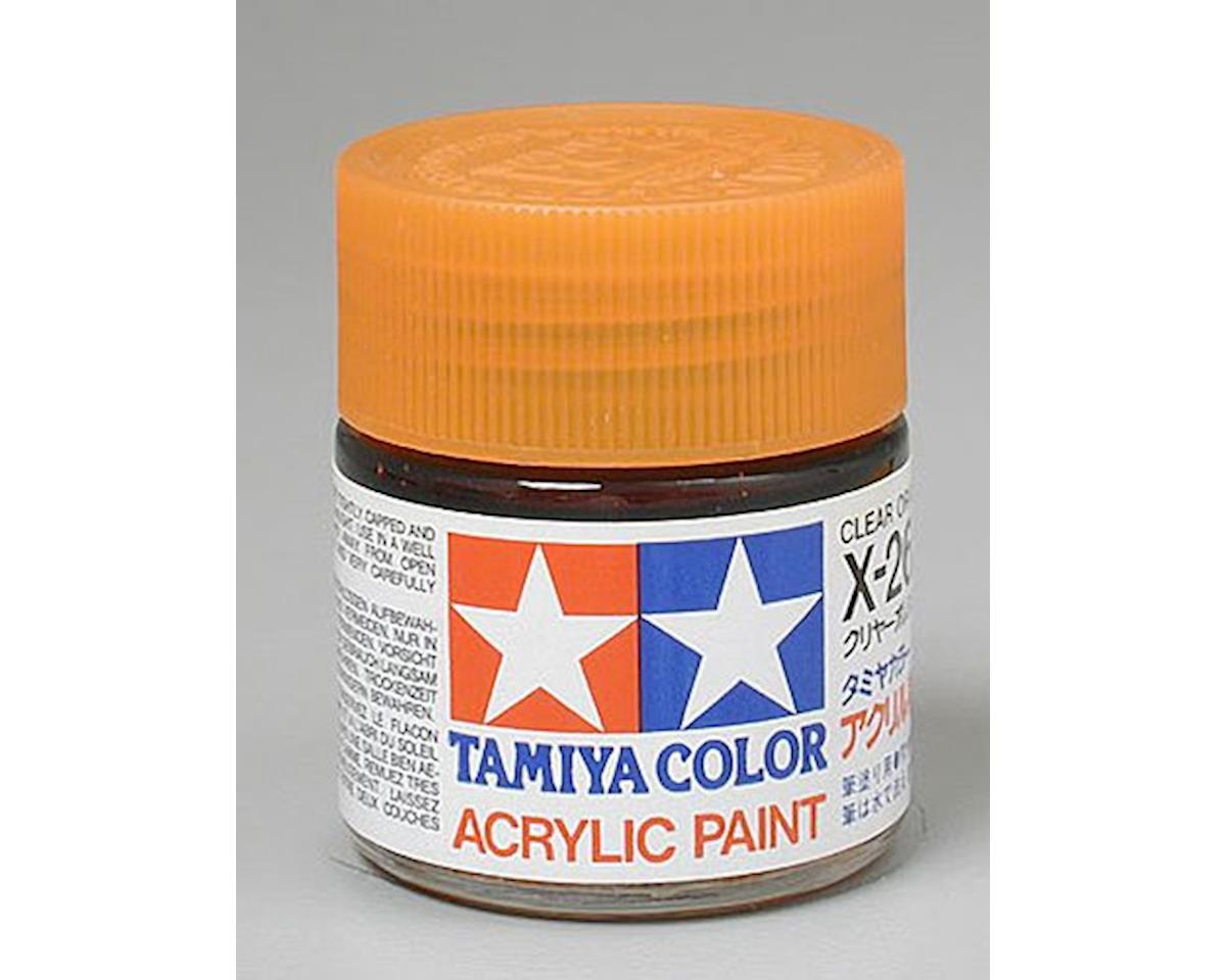 Acrylic X26 Gloss Clear Orange Paint (23ml) by Tamiya