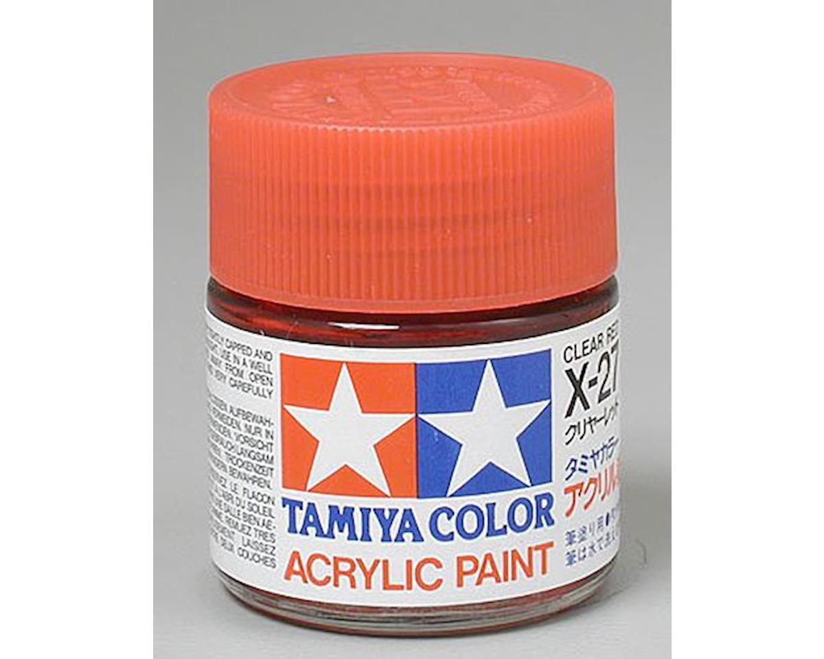 Acrylic X27 Gloss Clear Red Paint (23ml) by Tamiya