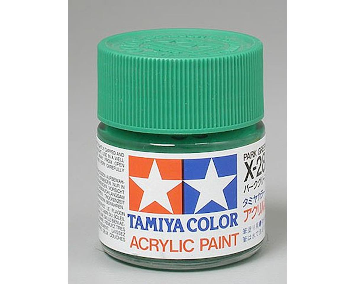 Park Green Mini Acrylic Gloss Finish (6/Bx) by Tamiya
