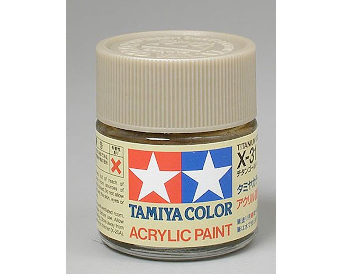 Tamiya Titanium Gold Mini Acrylic Gloss Finish (6/Bx)