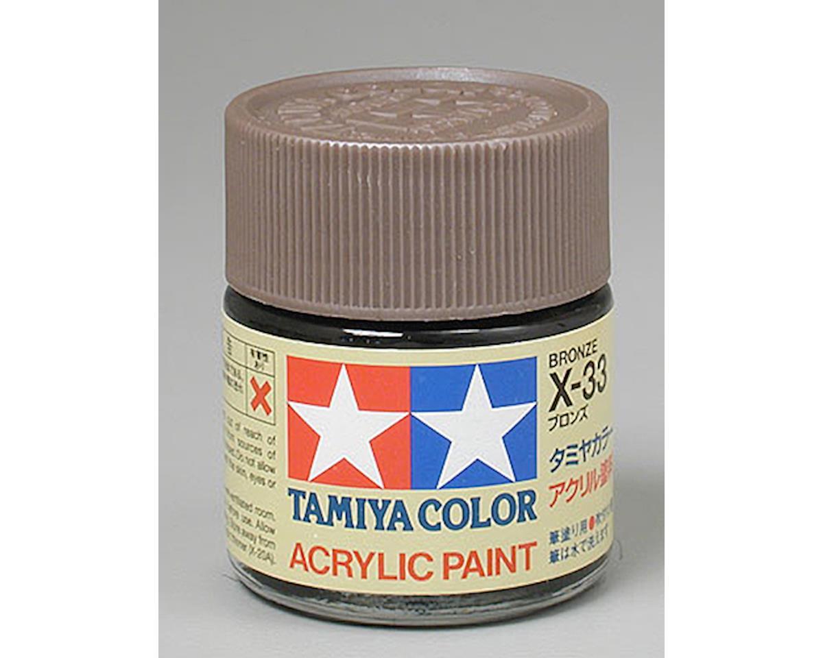Tamiya Acrylic X34 Metallic Brown Paint (23ml)