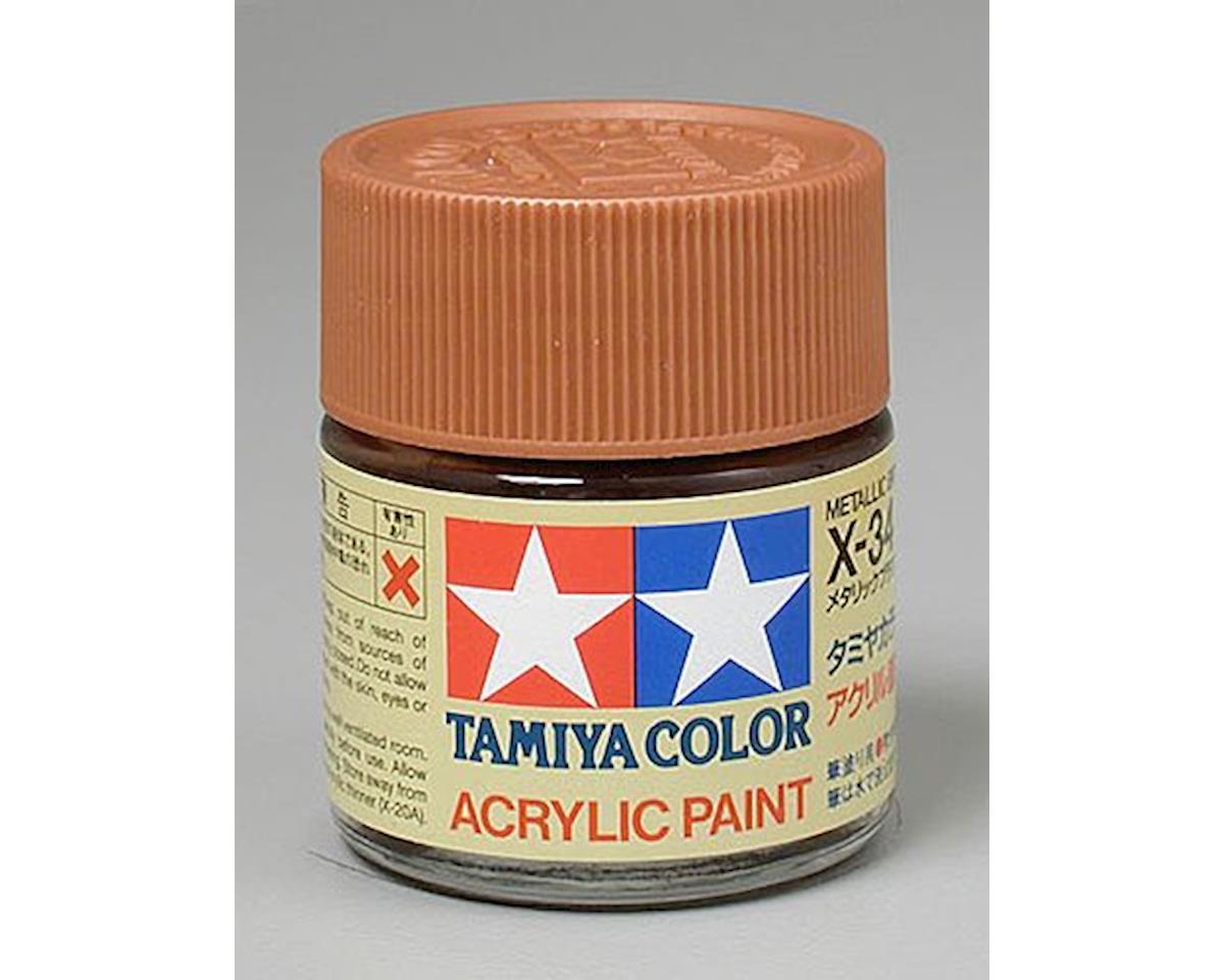 Tamiya Metallic Brown Mini Acrylic Gloss Finish (6/Bx)