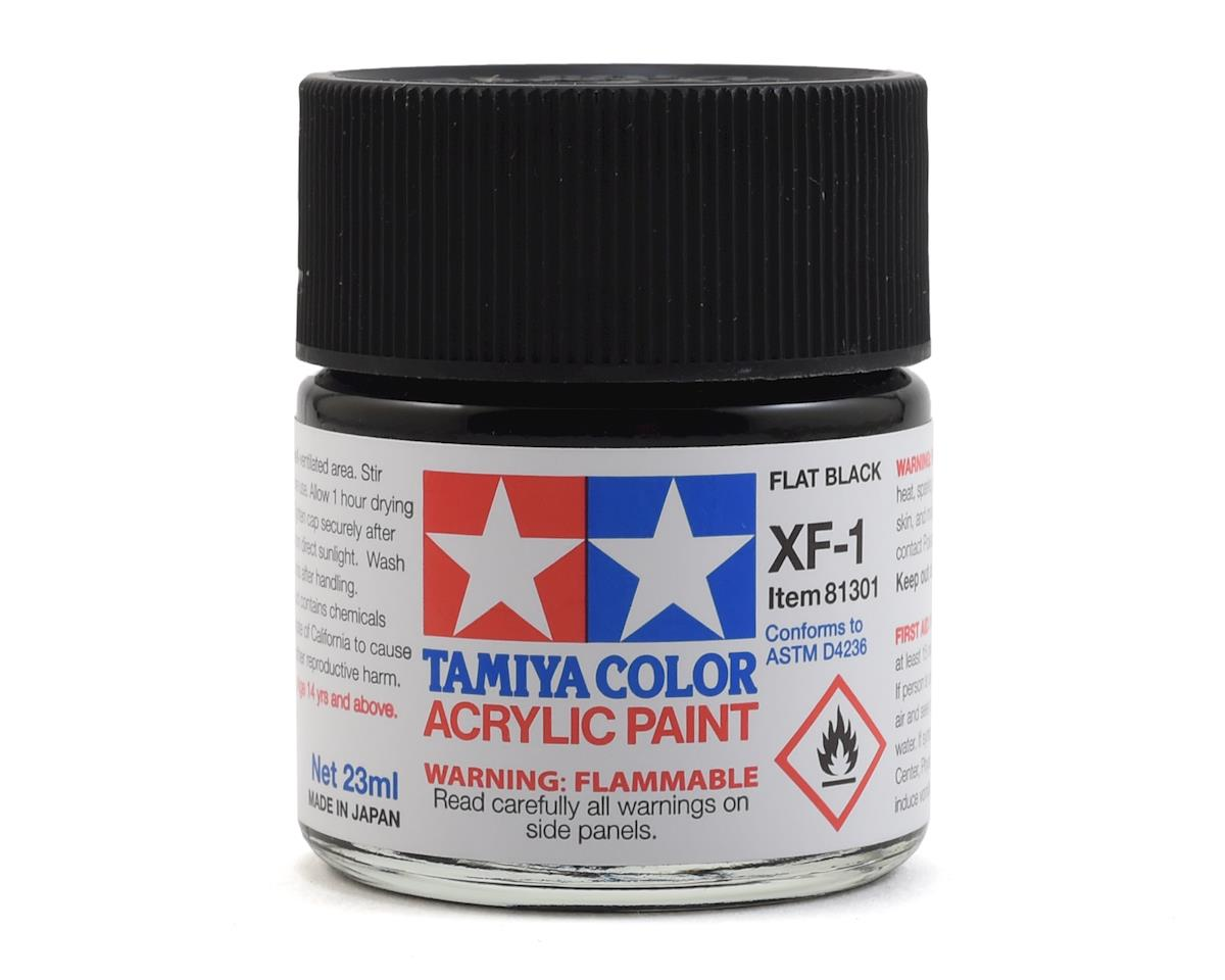 Acrylic XF1 Flat Black Paint (23ml) by Tamiya