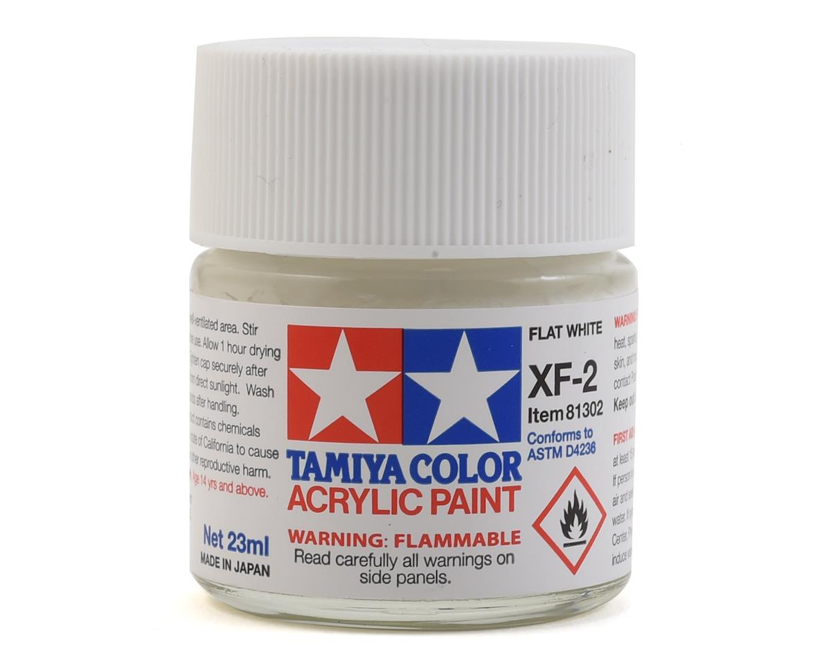 Acrylic XF2 Flat White Paint (23ml) by Tamiya