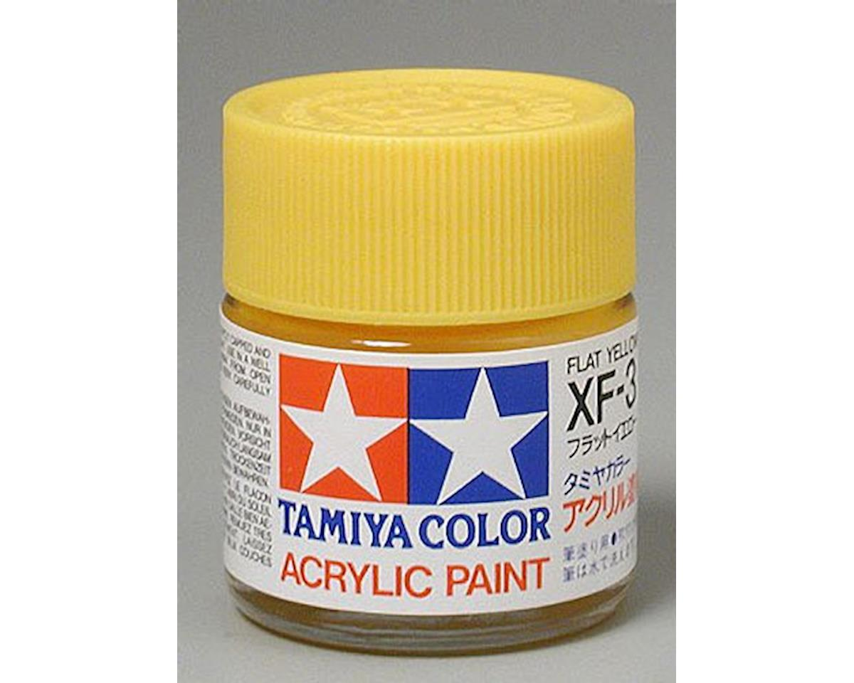 Tamiya Flat Yellow Mini Acrylic Matte Finish (6/Bx)