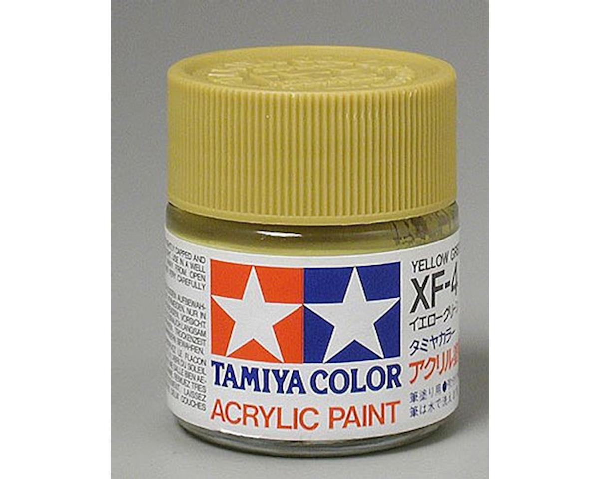 Tamiya Acrylic XF4 Flat Yellow Green Paint (23ml)