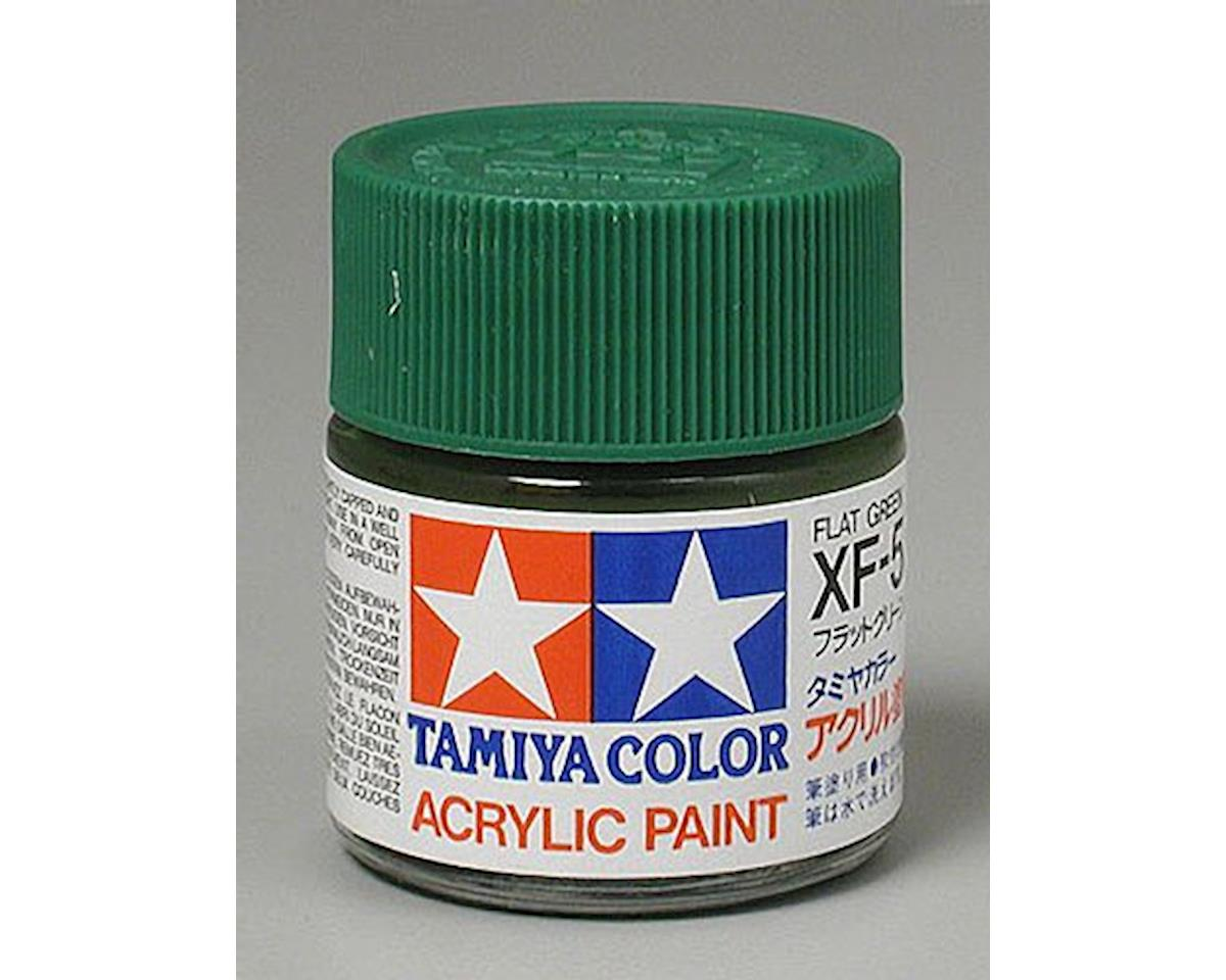 Flat Green Mini Acrylic Matte Finish (6/Bx) by Tamiya