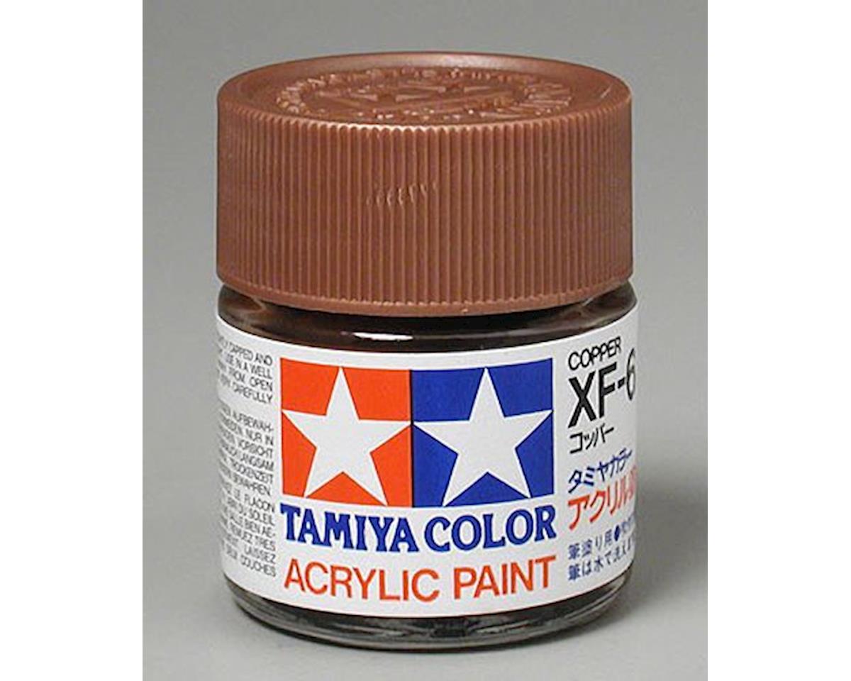 Tamiya Copper Mini Acrylic Matte Finish (6/Bx)
