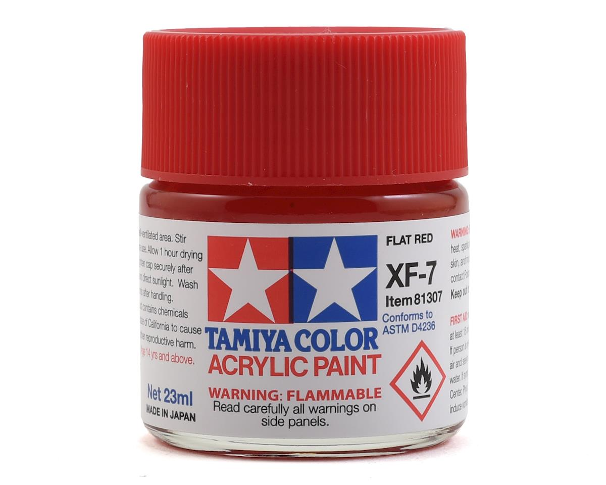 Acrylic XF7 Flat Red Paint (23ml) by Tamiya