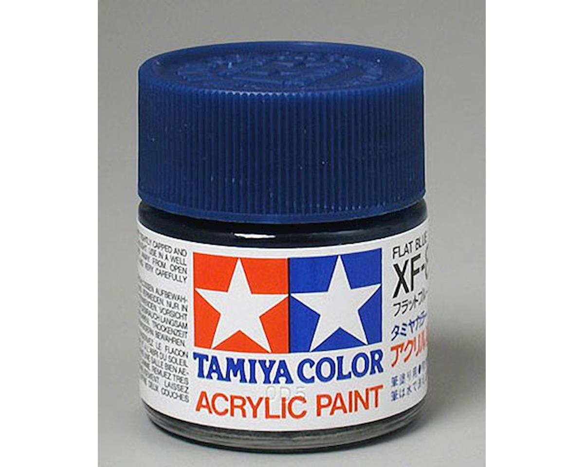 Tamiya Acrylic XF-8 Mini Matte Finish Paint (Flat Blue)