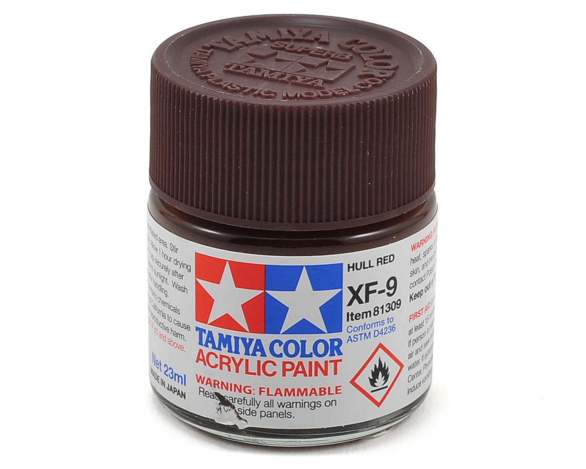 Tamiya XF9 Flat Hull Red Acrylic Paint Mini (1/3oz)