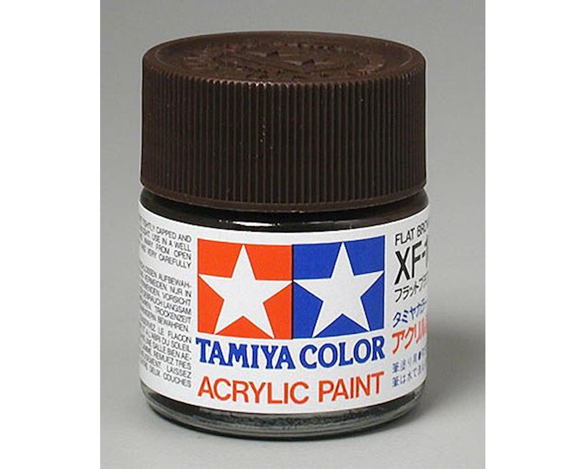 Tamiya Acrylic XF10 Flat Brown Paint (23ml)