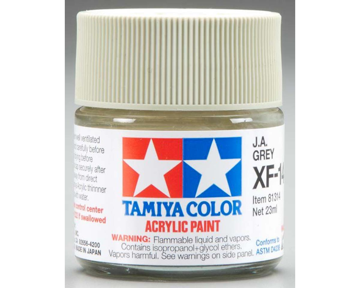 Tamiya Acrylic XF14 J.A. Flat Gray Paint (23ml)