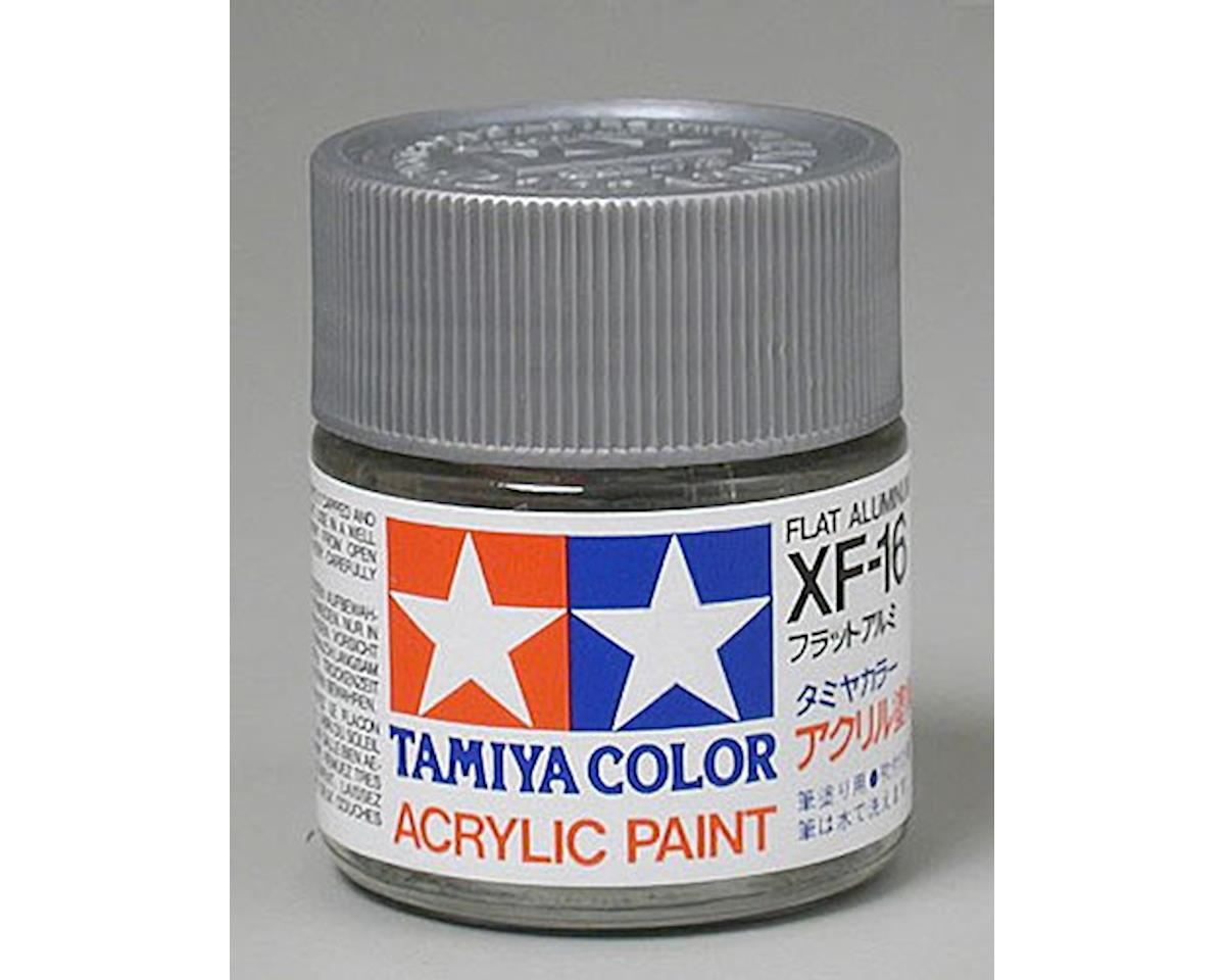 Acrylic XF16 Flat Aluminum Paint (23ml) by Tamiya