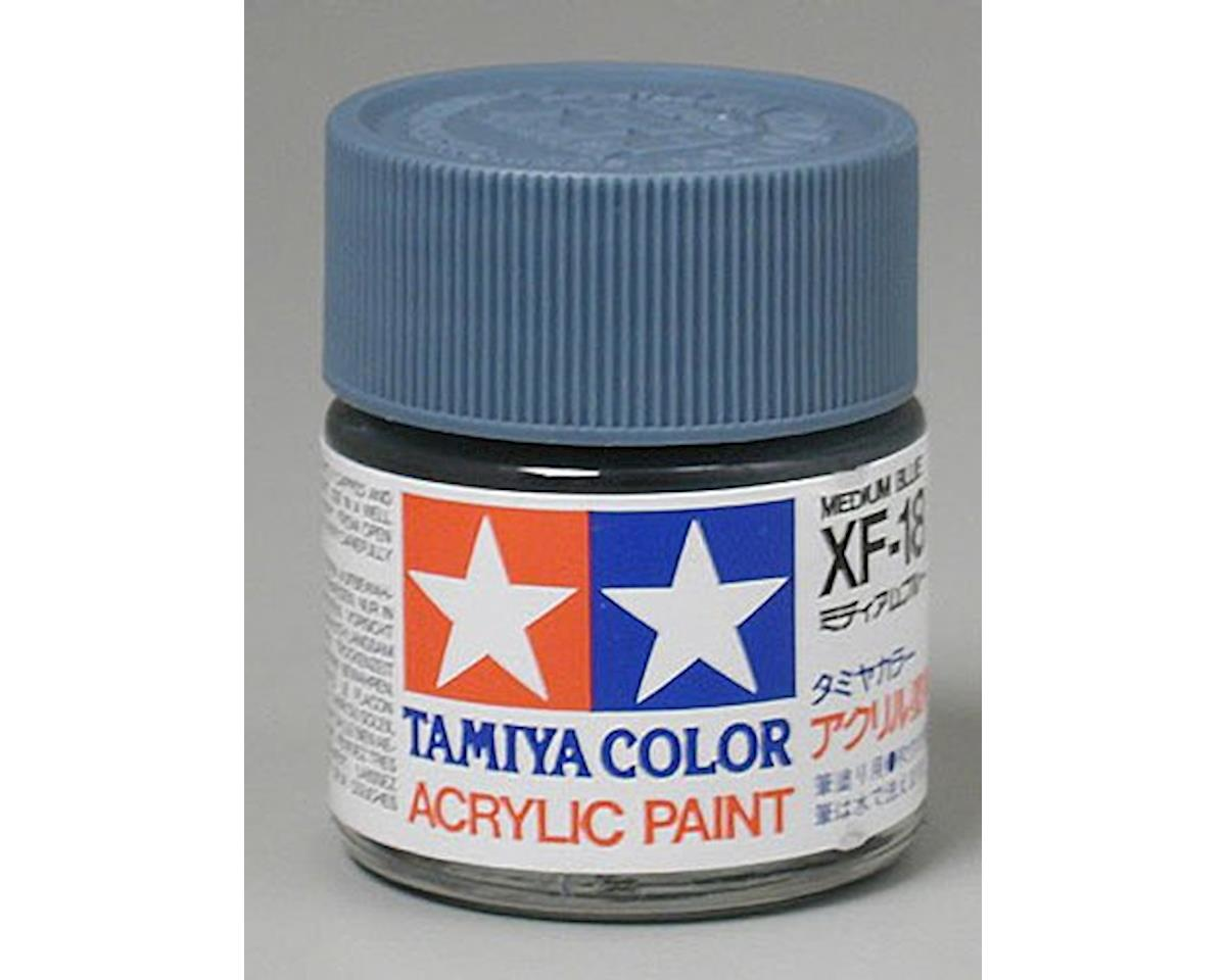 Acrylic XF18 Flat Med Blue Paint (23ml) by Tamiya