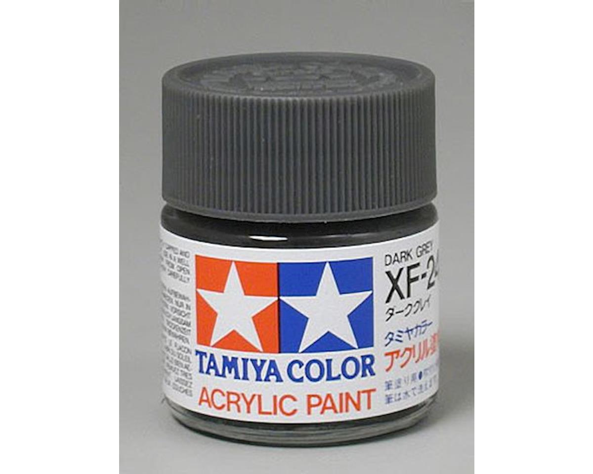 Acrylic XF24 Flat Dark Gray Paint (23ml) by Tamiya