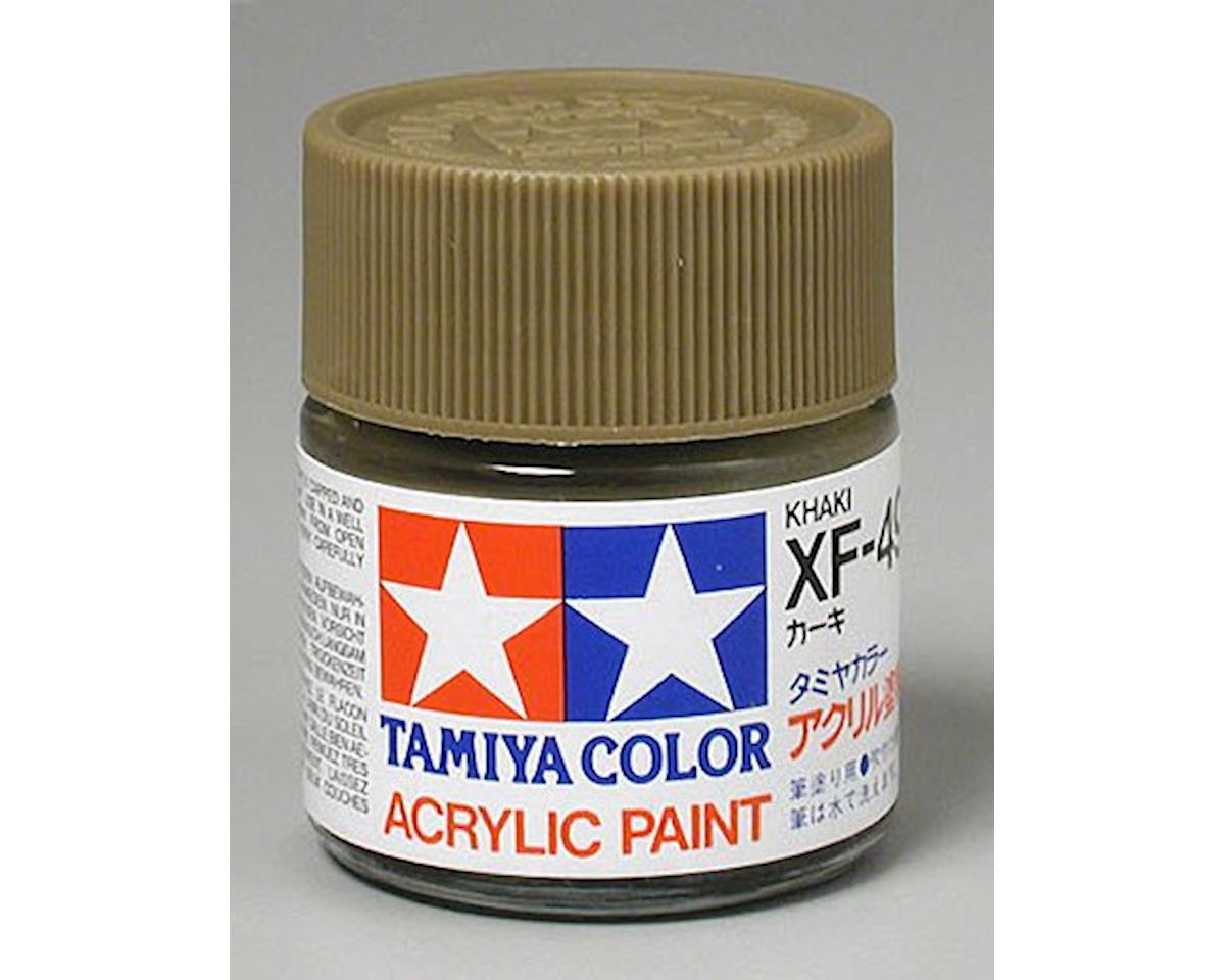 Acrylic XF49 Flat Khaki Paint (23ml) by Tamiya