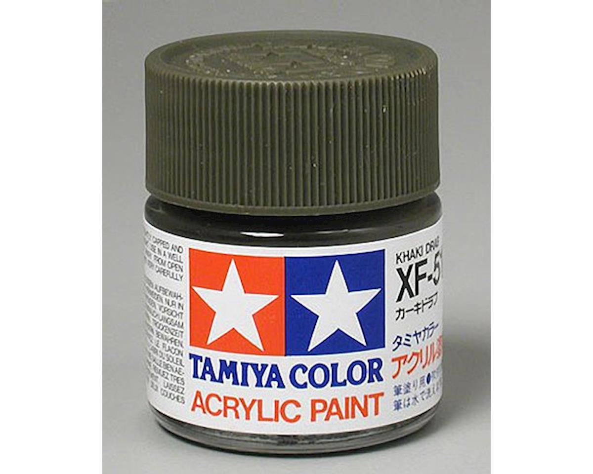 Acrylic XF51 Flat Khaki Drab Paint (23ml) by Tamiya