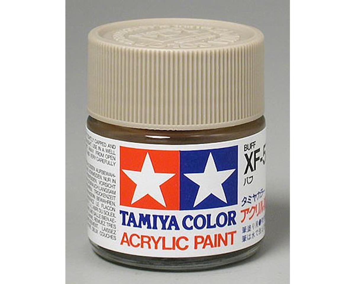 Acrylic XF57 Flat Buff Paint (23ml) by Tamiya