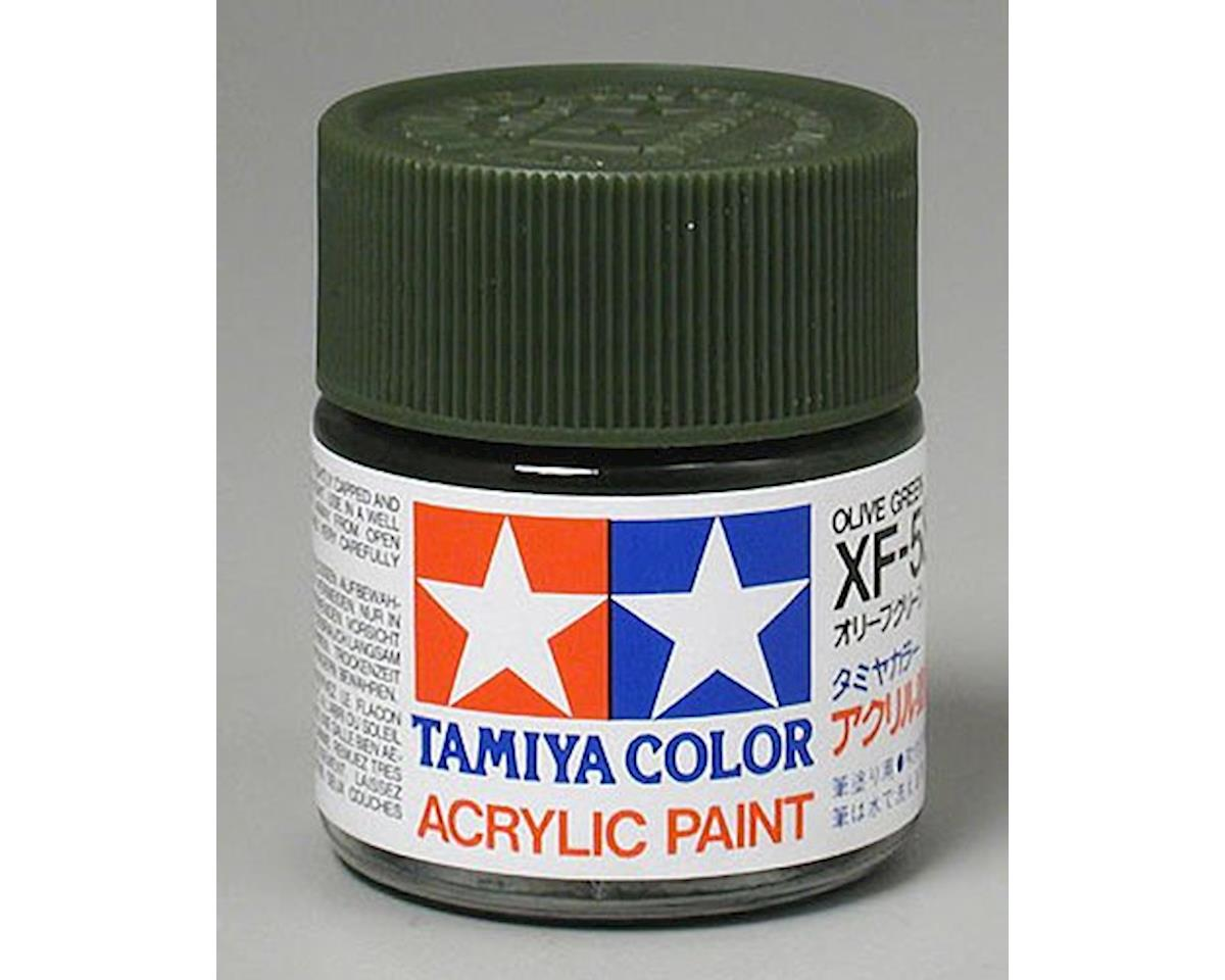 Tamiya Acrylic XF58 Flat Olive Green Paint (23ml)