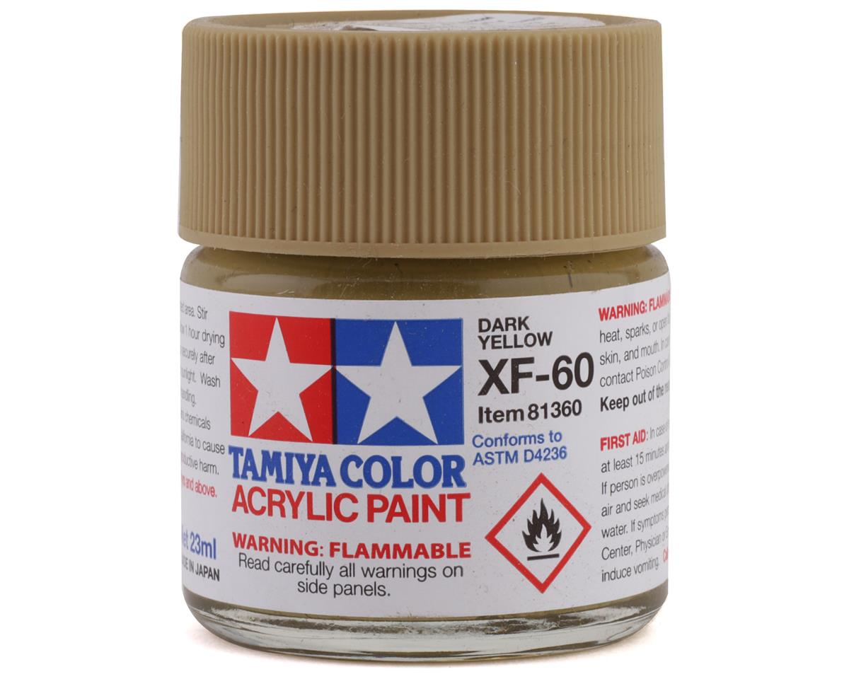 Tamiya Acrylic XF60 Flat Dark Yellow Paint (23ml)