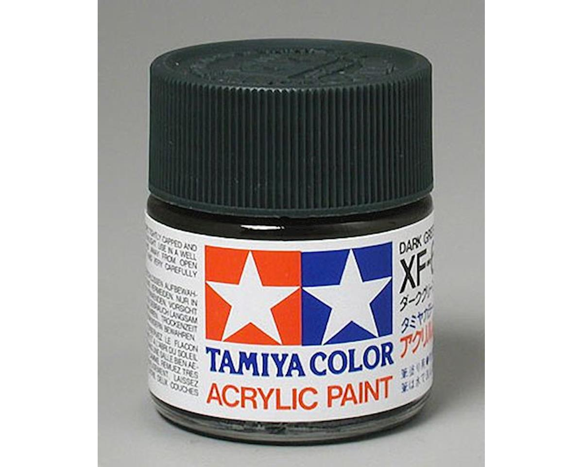 Acrylic XF61 Flat Dark Green Paint (23ml) by Tamiya