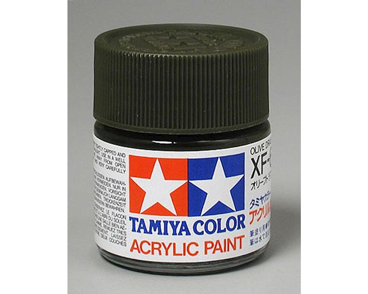 Acrylic XF62 Flat Olive Drab Paint (23ml) by Tamiya