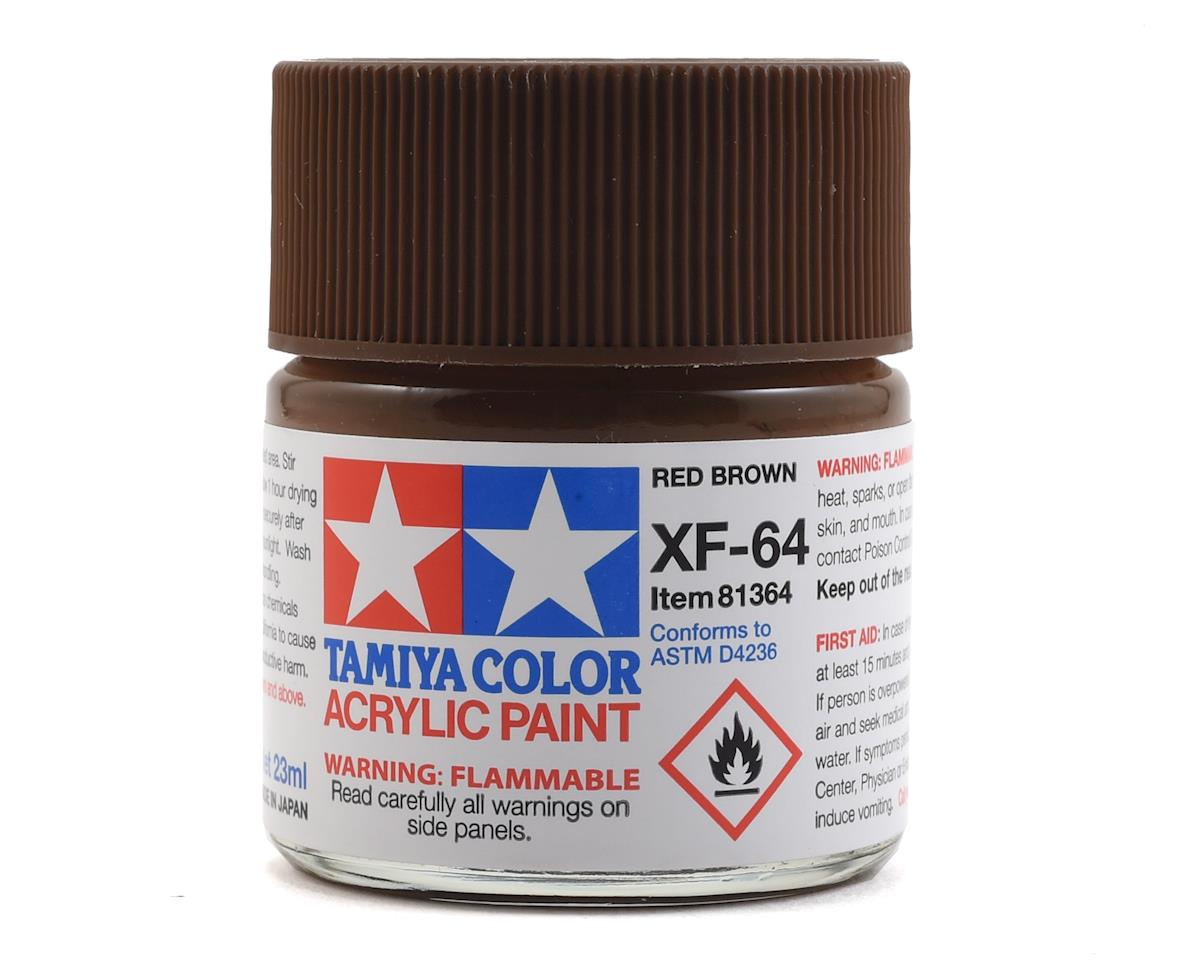 Acrylic XF64 Flat Red Brown Paint (23ml) by Tamiya