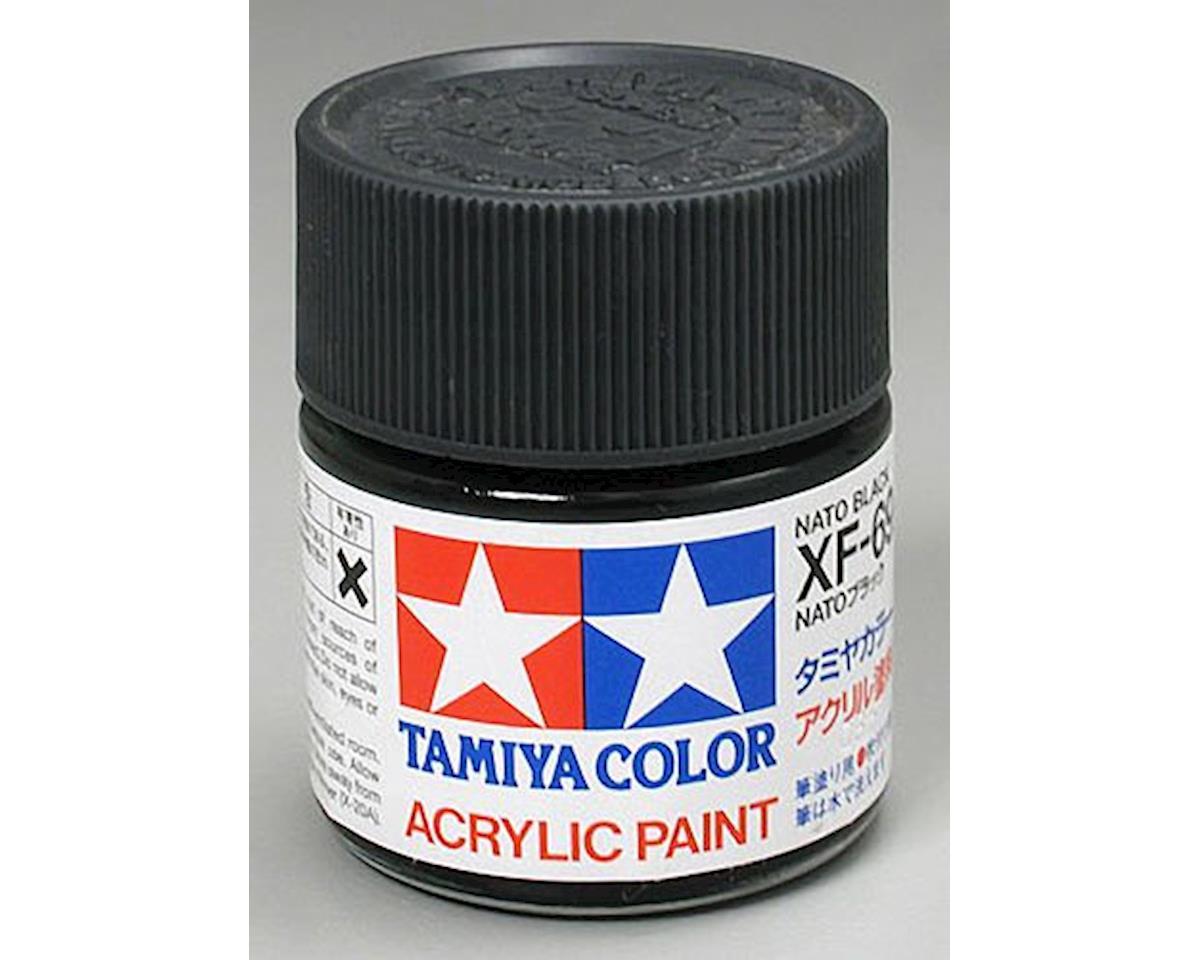 Tamiya Acrylic XF69 Flat Nato Black Paint (23ml)