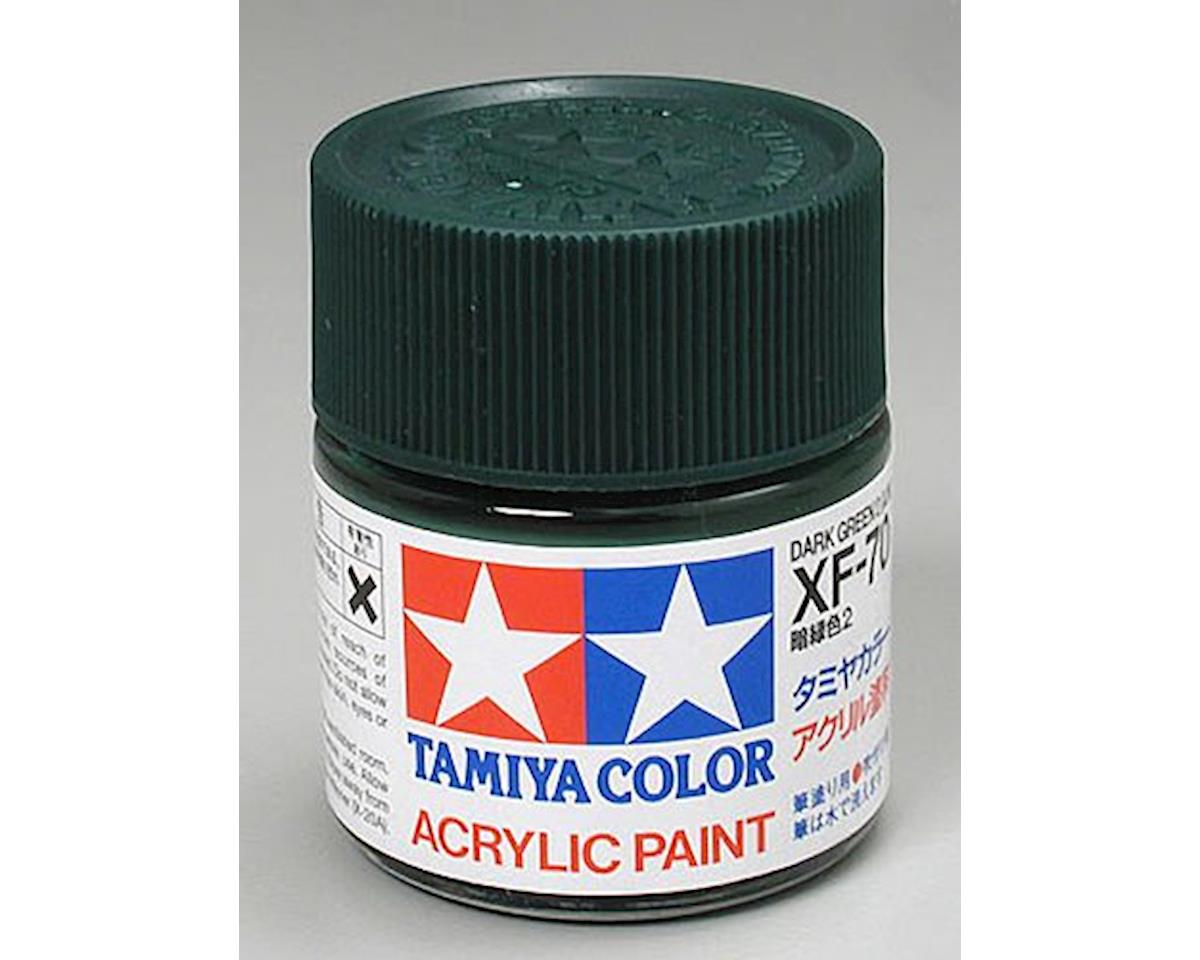 Acrylic XF70 Dark Green Paint (23ml) by Tamiya