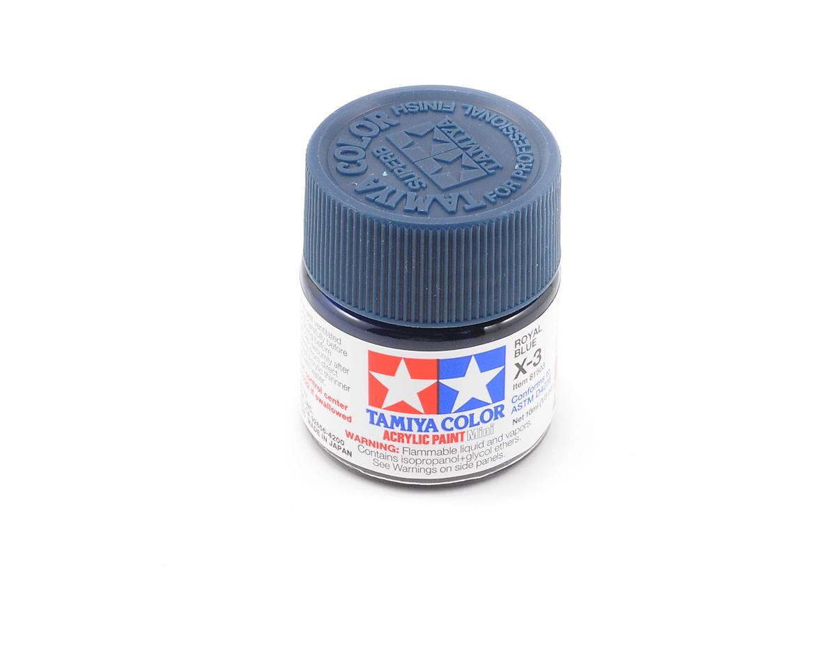 Tamiya Acrylic Mini X3 Royal Blue Paint (10ml)