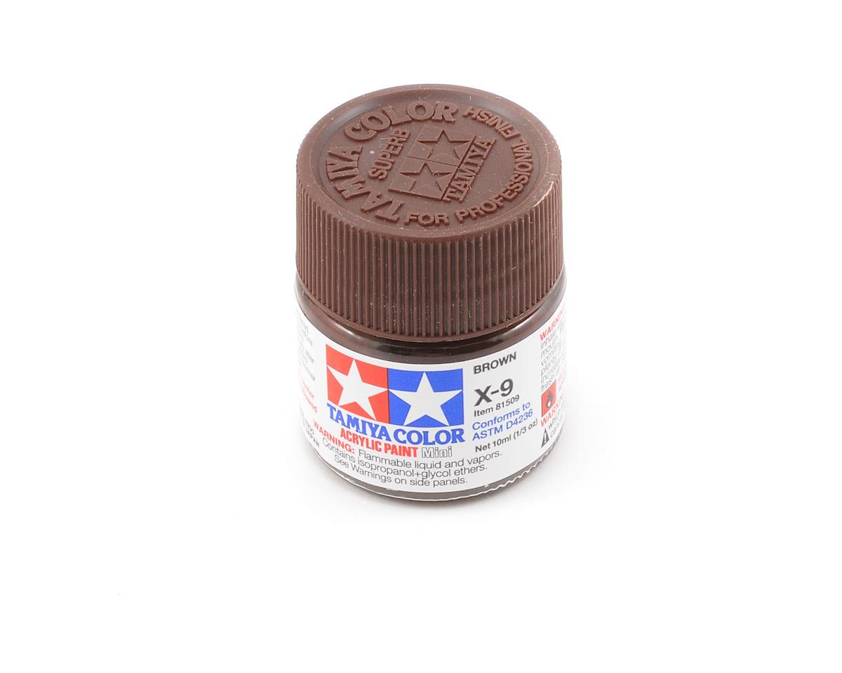 Acrylic Mini X9 Brown Paint (10ml) by Tamiya