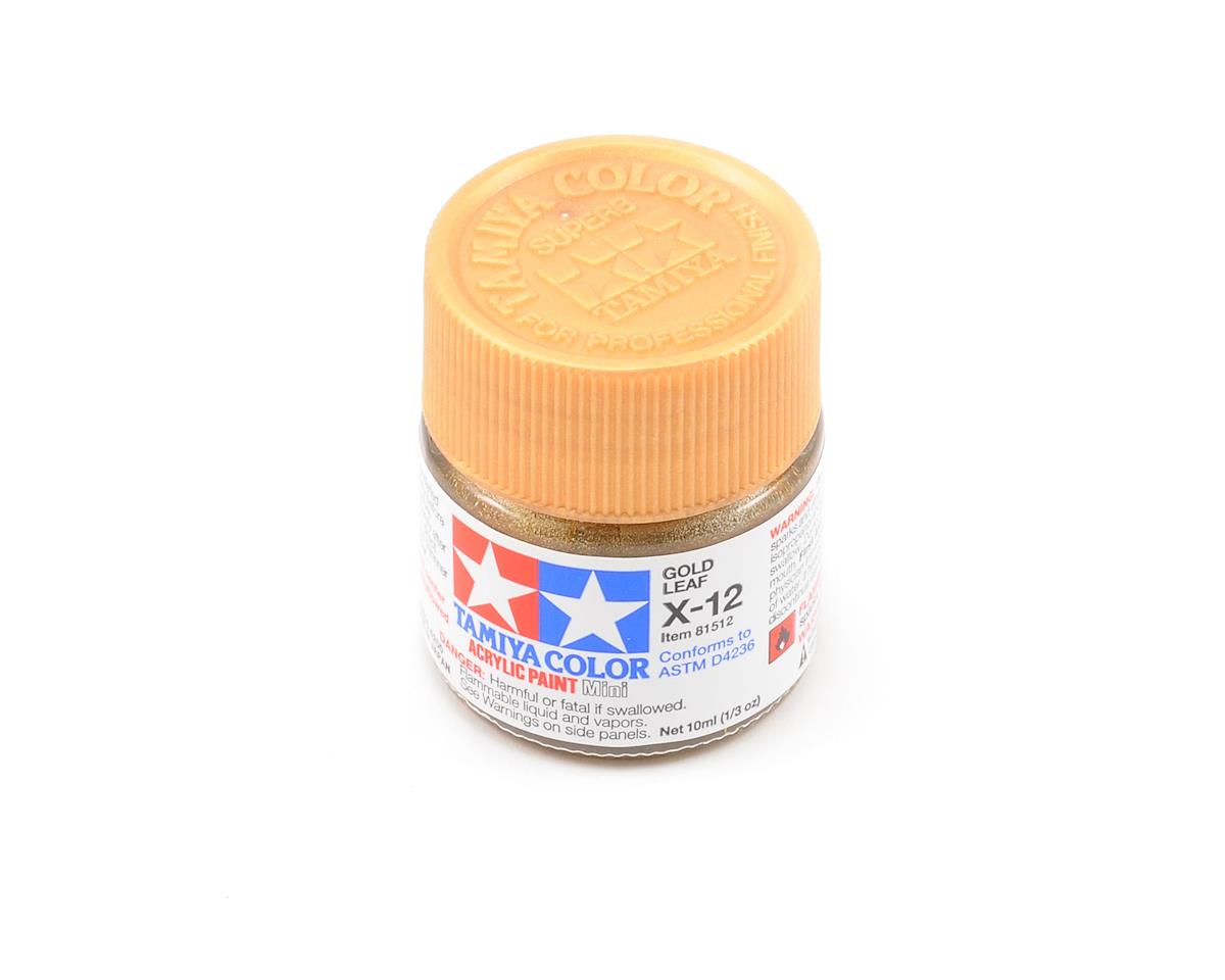 Acrylic Mini X12 Gold Leaf Paint (10ml) by Tamiya